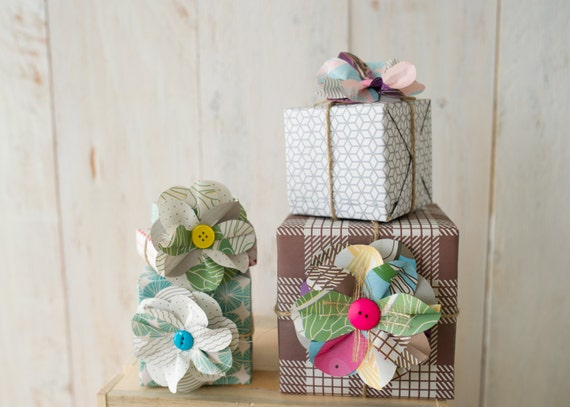 Items Similar To DIY Handmade Paper Flower Kit Set Of 5 Make Great Handmade Gift Toppers For