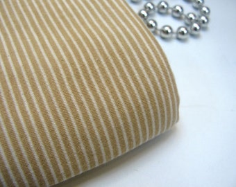 Organic Cotton Jersey Knit Fabric 2mm Stripe By The Yard