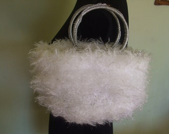 women's clutch bag handbag knitted wool