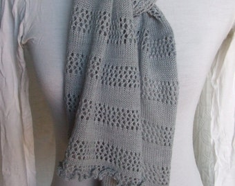 thin knitted wool scarf women