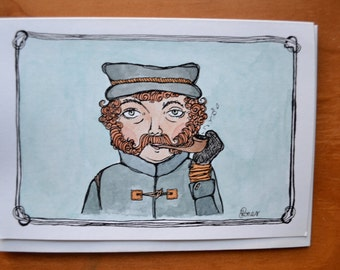 Fisherman - Hand-painted Card