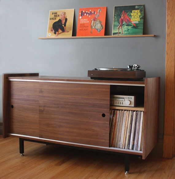 vinyl record cabinet the standard audio credenza for vinyl lp and component storage 28012