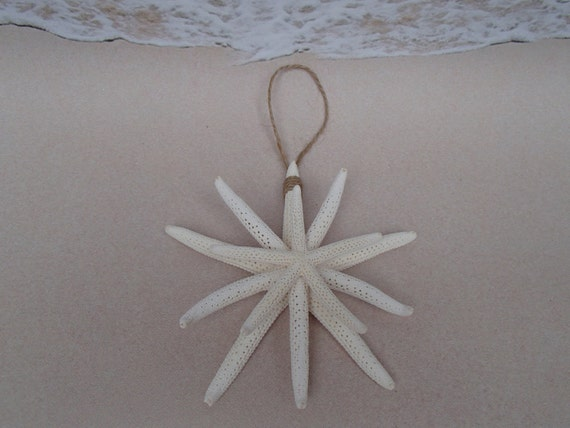 white starfish snowflake ornament beach christmas tree