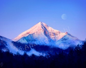 Lone Peak Mountain - Digital Painting Print