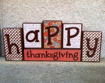 Thanksgiving blocks - happy thanksgiving