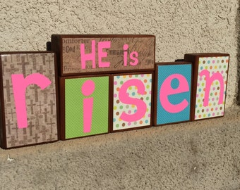 Easter blocks - HE is risen