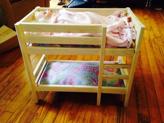 Baby Doll Bunk Bed For 18 Dolls American Girl By