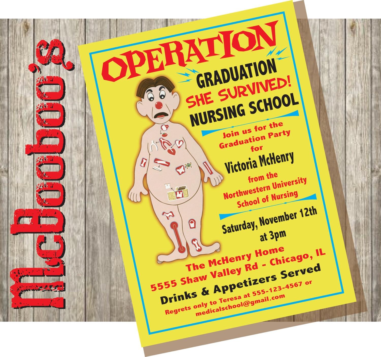 Nursing School Graduation Invitations for luxury invitations design