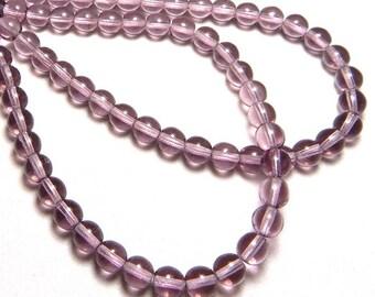 6mm Light Amethyst Czech Beads, Light Amethyst Beads, Amethyst Beads, Purple Beads, 6mm Purple Beads, Light Purple Beads,  T-017B