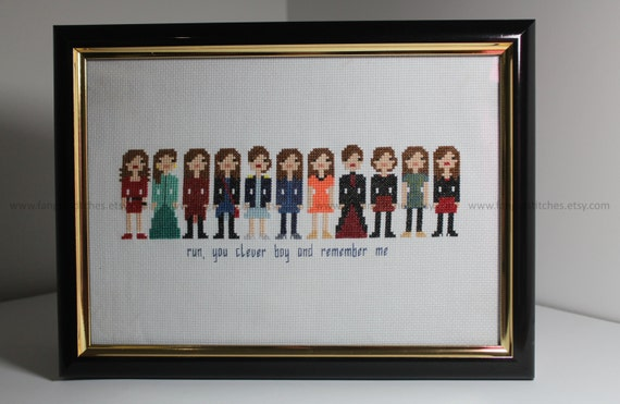 Doctor Who Clara Oswald Season Seven 7 Run You Clever Boy And Remember Cross Stitch - PDF Pattern - INSTANT DOWNLOAD