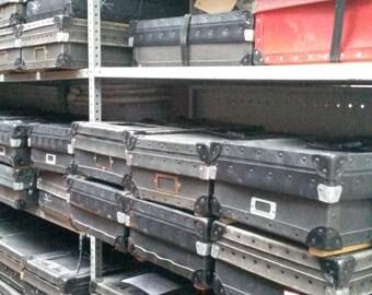 Black Retro Postal Shipping Boxes for Storage