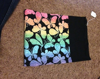 Butterfly rainbow pillowcase