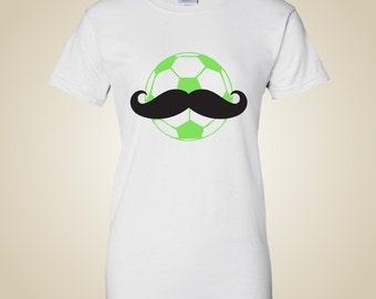 Soccer Ball Mustache shirt