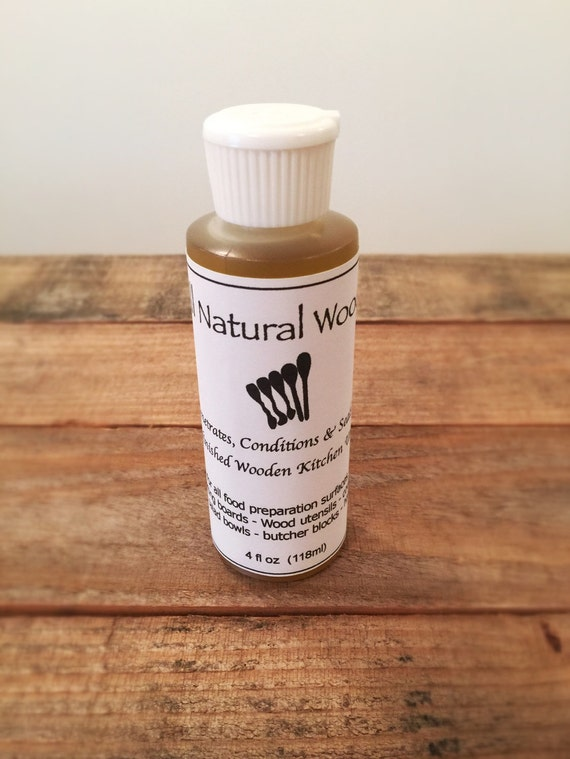 all natural wood oil 4oz squeeze bottle by carvedwoodenspoons