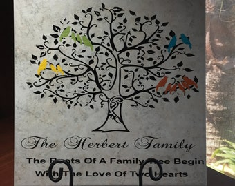 "Personalized ""12x12"" Family Tree Tile"
