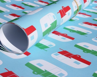 Shasta Wrapping Paper. Vintage Shasta Trailers.  Wrapping Paper Sheet.
