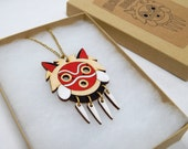Mononoke Mask necklace