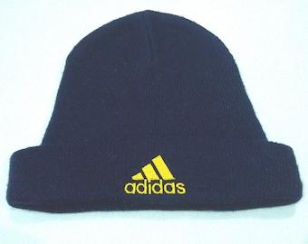 Vintage Adidas Beanie Snowcap Dark Blue Hat BA