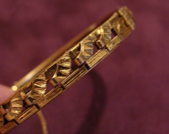 Bracelet Vintage Freirich gold tone bracelet Signed