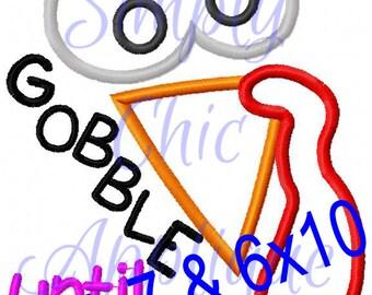 Instant Download Gobble Applique - Easy Design to do!