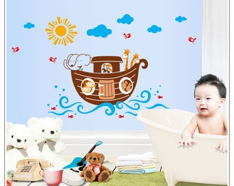 Noah's Ark Nursery Kids Baby Wall Decals / Wall Stickers - FREE DELIVERY (Australia Only) AW7103