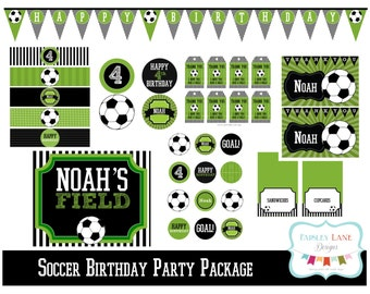 Soccer Birthday Party Printable Package