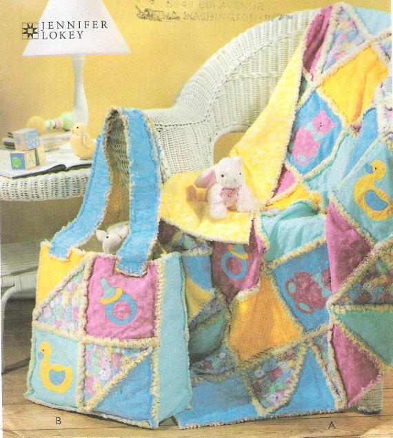 Baby Quilt Patterns Mccalls : McCall s 4255 Baby s Rag Quilt and Diaper Bag