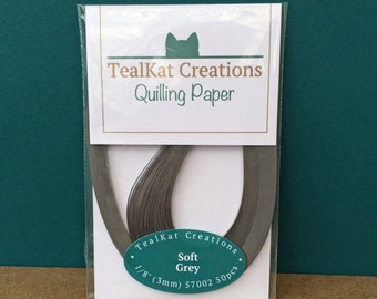Soft Grey Quilling Paper