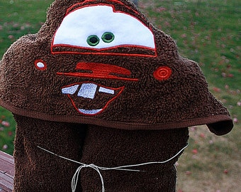 Brown Silly face Hooded towel File 5x7