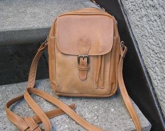 Vintage Ellington Brown Leather Cross B Purse Shoulder Bag Portland Oregon