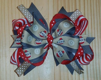 Sock Monkey Bow