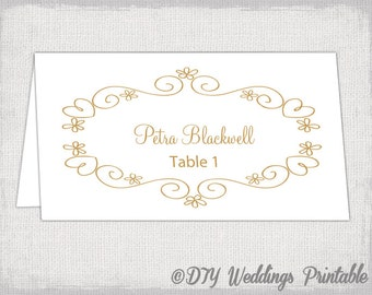 Printable wedding place cards – Etsy