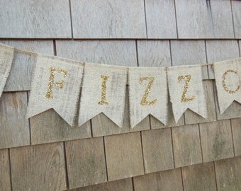 Pop Fizz Clink Banner, New Years Banner, New Years Decor, Happy New Years Sign, Celebration Banner, Engagement Party Decor, Congratulations
