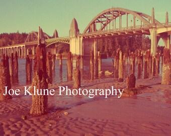 Siuslaw River Bridge, Oregon coast photography, Ocean decor, Florence, Oregon,  Fine Art Print, 4X6,5X7,8X12,11X17, vintage, retro