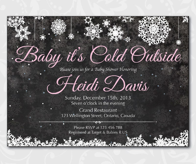 Baby Its Cold Outside Baby Shower Invitation Winter Baby