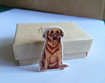 Chocolate Labrador Brooch