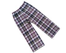 Boy's Plaid Pants, Tartan Trousers - Navy, White, Red, Yellow - P5