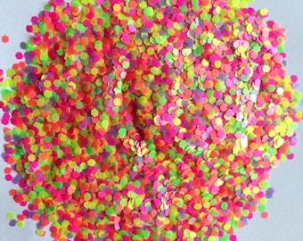 Neon Matte Glitter Mix Nail Polish Glitter Mix for Nail Polish Franken Scrapbooking