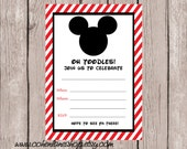 Instant Download Fill In Mickey Mouse Party Invitation. Fill in Invitation. Mickey Party Invite. Invitation.