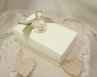 Handmade Two Piece Ivory Wedding Favour Box