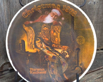 Christmas Dream  Collector Plate Issued in 1978 Norman Rockwell
