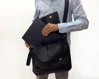 Sale!!! Large size Leather Messenger bag satchel bag laptop bag leather bag laptop hand bag 15 inch laptop