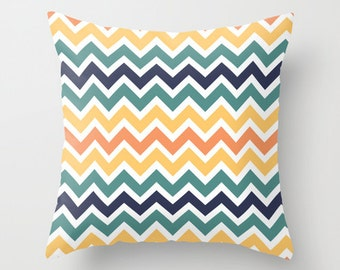 Tribal Chevron Pattern Throw Pillow