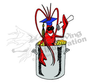 Graduation Crawfish Boil Graphic BLUE