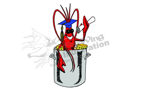 Graduation Crawfish Boil Graphic BLUE