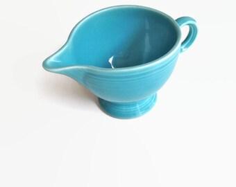 Vintage Fiesta Creamer Ring Handle Fiesta Ware Creamer Turquoise Blue Aqua
