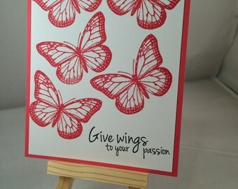 Set of 5 butterfly cards
