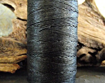 3 Ply Black Waxed Irish Linen Thread 10 Yards WIL-25,3 ply linen thread,black linen thread,waxed linen thread,bookbinding thread,vodabeads