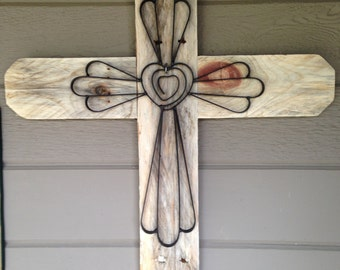 Rustic Pallet Wall Cross Made with Reclaimed Wood