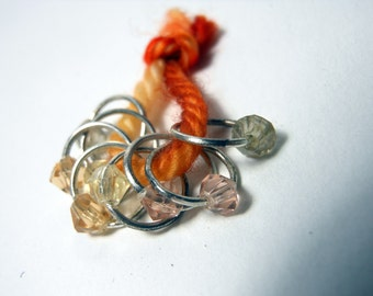 """Snagless Stitch Markers: """"Cigar Lounge"""" Crystal"""